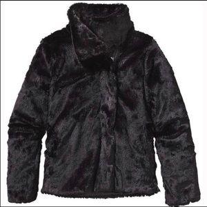 Patagonia Black Faux Fur Jacket - Lined
